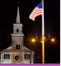 New Town Flag at Half Mast Inset