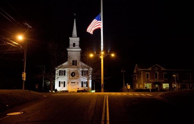 New Town Flag at Half Mast Source