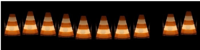 3d-traffic-cones-night