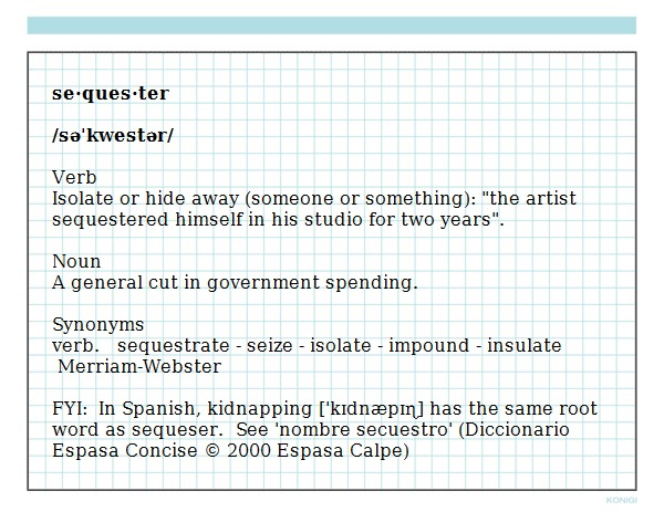 sequester definition