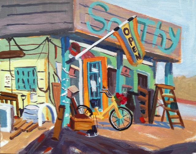 Colorful Junk Store by Jen Spaker