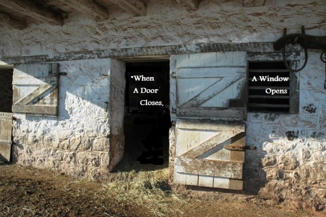 When a door closes, a window opens_dutch-door horse stall
