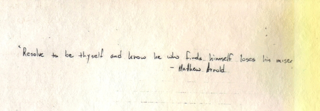 Matthew Arnold Quote from Page 1 inset