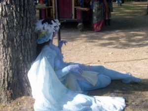 Bristol Renaissance Faire - Blue Wood Nymph by dan4kent