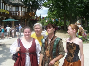 Bristol Renaissance Faire - friends and family with cast member at the Faire  by dan4kent