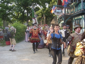 Bristol Renaissance Faire - Queens Procession at close of day by dan4kent