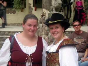 Bristol Renaissance Faire - Rachel, our Milk Maiden (L) with cast member by dan4kent