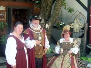 Bristol Renaissance Faire - Rachel, our Milk Maiden (L) with her adopted parents (cast members) by dan4kent