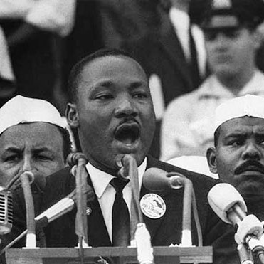 MLK begins to speak