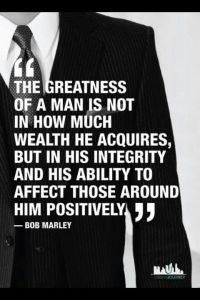 Bob Marley on being a gentlemen
