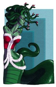 christmas_medusa_by_elfwoodsilverwing-d4gbjnh