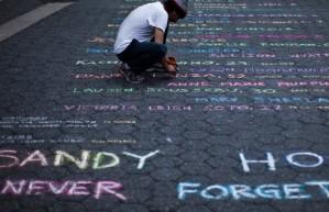 sandy hook chalk memorial