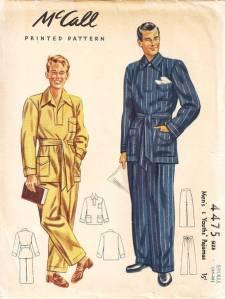 McCall Mens Pajama Pattern via betsyvintage