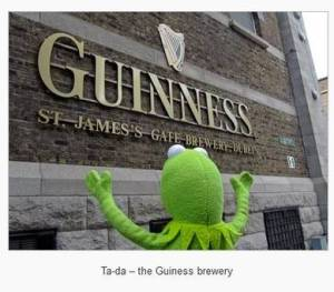 Kermit Visits the Guinness Brewery