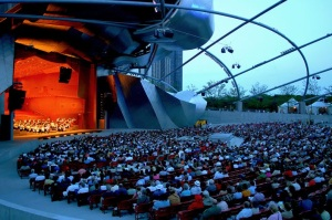 Chicago Pritzker Bandshell at 4th of July 2014