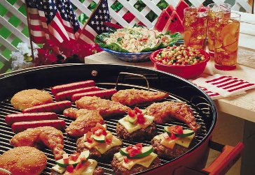 Pull out that checkered tablecloth, fire up the grill, and look no further for perfect all-American recipes like Guy's 4th of July Cocktail, Alton's Fried Chicken, and Ina's take on the classic.