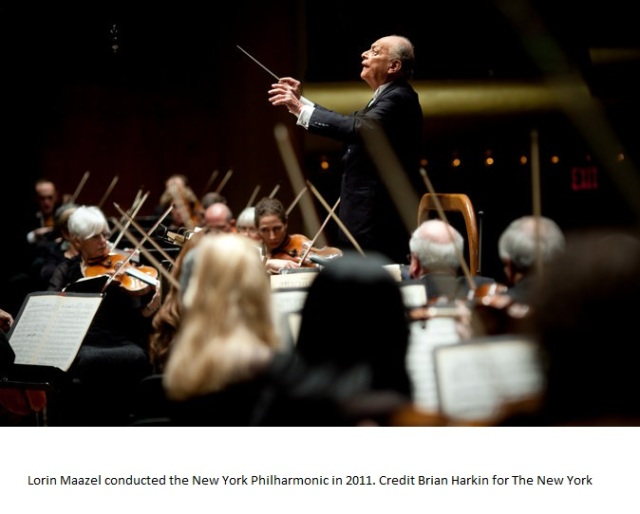 Lorin Maazel NY Times Photo