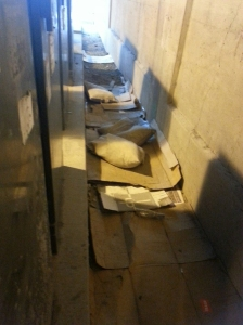 Homeless Beds Under a Bridge by dan4kent