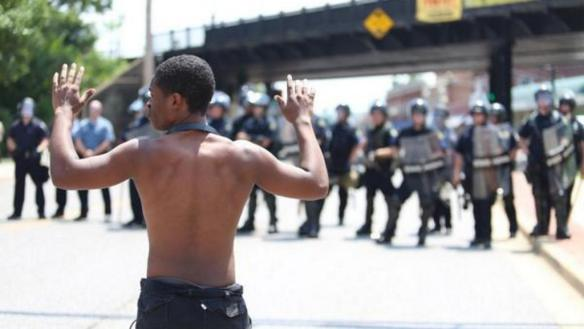 "Unarmed Man v. St. Louis County Police: ""Hands Up! Don't Shoot!"" Ferguson MO"