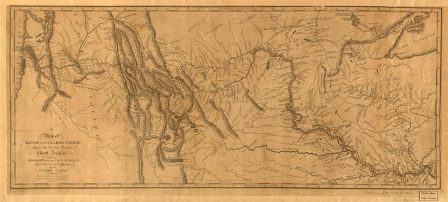 Lewis and Clarks Printed Map of North America