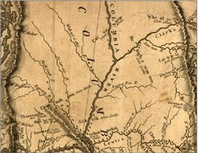 Map drawn by Lewis and Clark Expedition