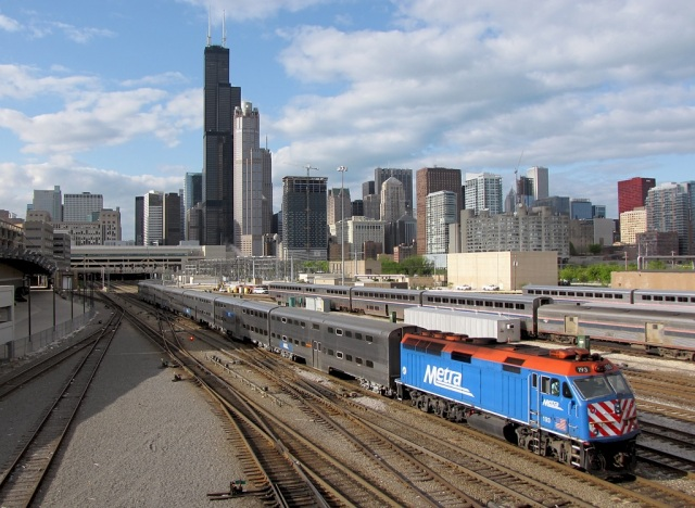 Metra Train Chicago