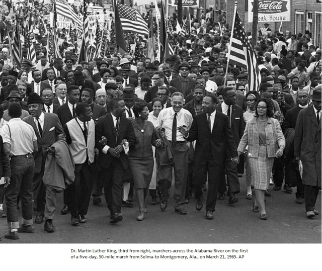 Dr King crossing the Alabama River_AP
