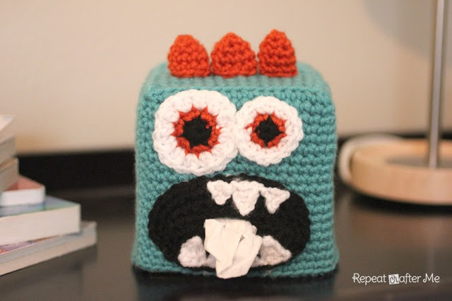 Crochet Tissue Box Cover at Repeat After Me