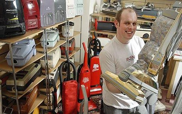 James Brown and his Vacuum Cleaner Museum