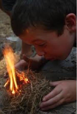 Campfire Caveman Style