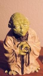 Yoda on Dan's Desk