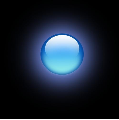 blue orb by Minz