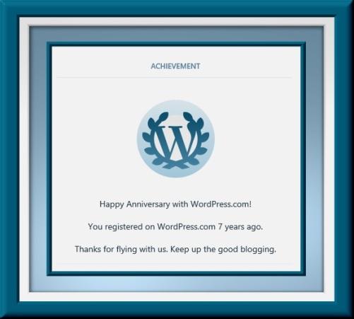 Wordpress 7 year Anniversary